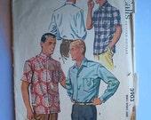 Vintage 50s Mens Sport Shirt Pattern M 15 - 15 1/2