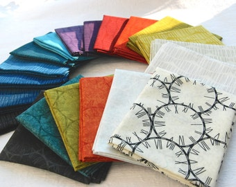 "Fat Quarter Bundles ""Silver Lining"" Clouds and Time by Hoodie Crescent"