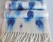 Handwoven Hand Painted Silky Tencel Scarf by Frederick Avenue