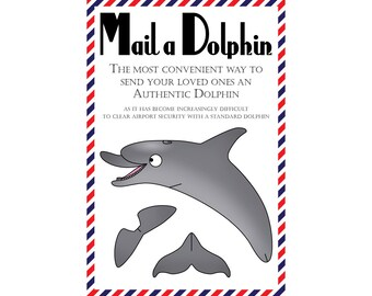 "Dolphin Postcards, Set of 8 ""Mail a Dolphin"" Postcards"