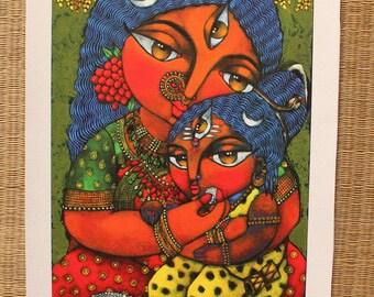 Annapurna Goddess of Nourishment CANVAS Print
