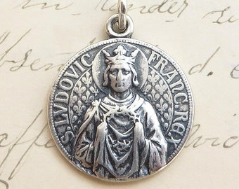 St Louis Medal - Patron of bridegrooms, parents and barbers