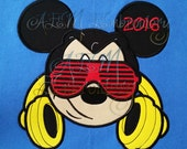 Cool Mousehead Headphones and Sunglasses Personalized Shirt 2017