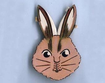 Vintage Pete's Bunny Die Cut and Embossed Victorian Scrap - Package of 4 Bunnies (2 packages of 2)