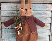 "Primitive Easter Bunny Rabbit Doll Pattern ""Daisy"""