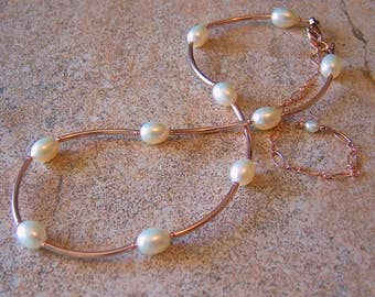 Natural Freshwater Pearl 14kt Rose Gold Filled Necklace, Cavalier Creations