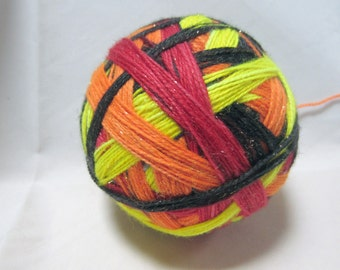 Warm Neon Lights Self-Striping SW Sock Yarn