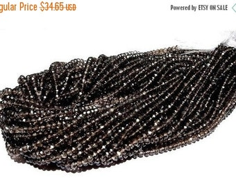 55% Sale Mystic Smoky Quartz Micro Faceted Rondelles Full 14 Inches Long Size 3.5mm Approx