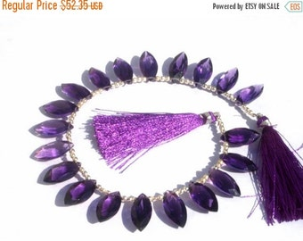 55% OFF SALE 8 Inches Extremely Beautiful AAA Amethyst Quartz Faceted Marquise Briolettes Size 16x8mm approx Finest Quality Wholesale