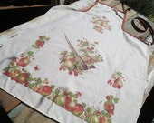 Vintage Apron with Pheasant & Apples Illustration by Arline for CSC