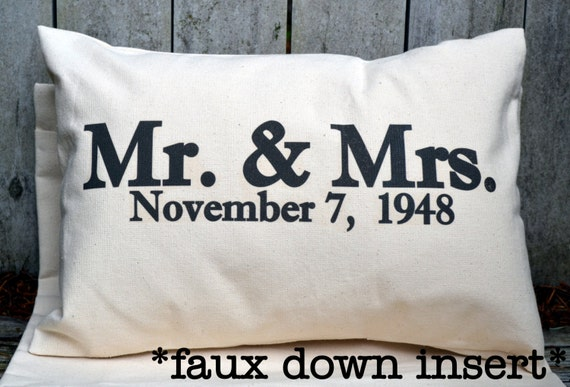 Unique Wedding Gifts For Second Marriage: Personalized Pillow Wedding Gift Valentine Gift Idea Mr