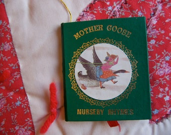 mother goose nursery rhymes book ornament