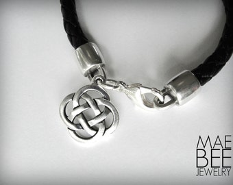 Celtic Knot Leather bracelet Irish knot Scottish Outlander bracelet St Patricks