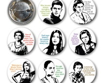 EMPIRE RECORDS - Pinback Buttons (set of 8)