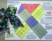 Cheer Bow Supply How To Make A Cheer Bow Template Mat/Graphic Placement Guide