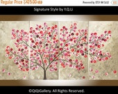 """Modern Wall Art Painting Acrylic abstract Landscape Canvas art Wall Art wall decor Office tree Painting """"Flying Blossoms"""" by qiqigallery"""