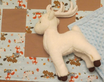patchwork quilt - boys quilts - patchwork quilts - woodland friends