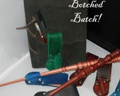 BOTCHED BATCH of HOLSTERs for Magic Wand, Handmade, Wizard, Leather, sca, Renaissance