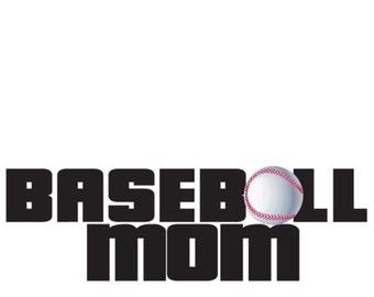 "Baseball Mom or Dad, You Choose 7"" Vinyl Full Color Sticker"