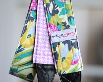 Butter Blooms - Reversible Camera Strap