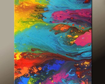 Abstract Art Canvas Painting 18x24 Contemporary Art Paintings by Destiny Womack - dWo - A River of Dreams