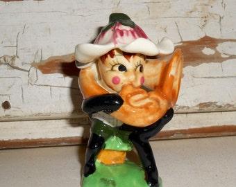 Vintage Ceramic Lady Bug Figurine
