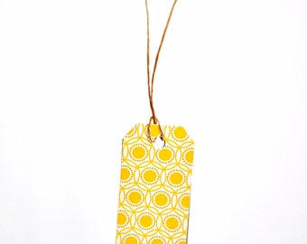 New Baby Yellow Gift Tags {10} Large Labels - Modern Christmas Holiday Tags - Scrapbooking Embellishments - DIY Supplies