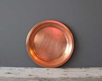 Large Copper Round Tray - Great for a Coffee Table / Vanity