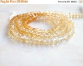 51% Off Sale Citrine Gemstone Rondelle Shaded Faceted 4mm 65 beads 1/2 Strand