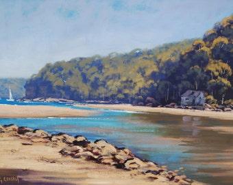SUMMER BEACH PAINTING Coastal seascape fine art by g.gercken