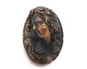 Cameo Pendant - Copper Finish, High Relief