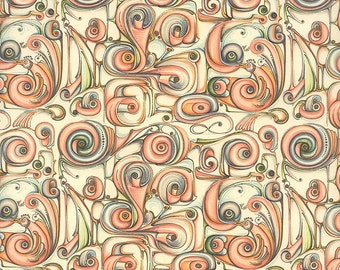 Made In Italy Authentic Florentine Paper Art Nouveau Carta Varese IP V 709