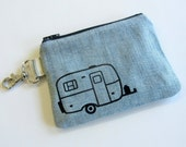 Scamp Camper Wallet Casita Travel Trailer Burro Camper Boler Camper Egg Camper Camping Trailer Denim Coin Purse Up Cycled Wallet Key Chain