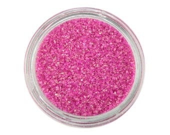 Raspberry Sanding Sugar - pink sprinkles for decorating cupcakes, cakes, cakepops, and cookies