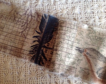 NEW DESIGN ! - Old World Style Feather & Birds Nature Trim