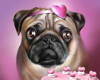 Custom Pet Portrait - Realistic Painting , Printable Digital File, Illustration