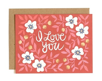 I Love You Illustrated Card