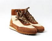 1970's Tan Suede Hi Top Sneakers Ankle Boots
