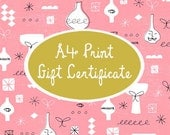 A4 Print Gift Certificate
