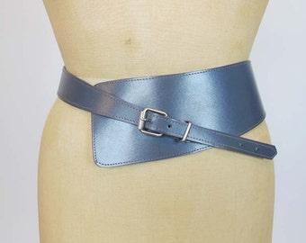 vintage belt / Grey Matter Vintage 80's Wide Belt Waist Cincher