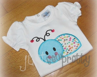 Lovebug Embroidery Applique Design