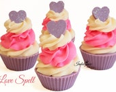 Love Spell Handmade Artisan Soap Cupcake/Valentines/Hearts/Cold Process