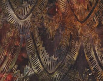 Kaufman Bali Batik Bakari 14938 191 Autumn Feather by the yard