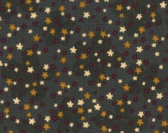 RJR Fabrics Highland 2539 3 Dark Green With Tiny Flowers By The Yard