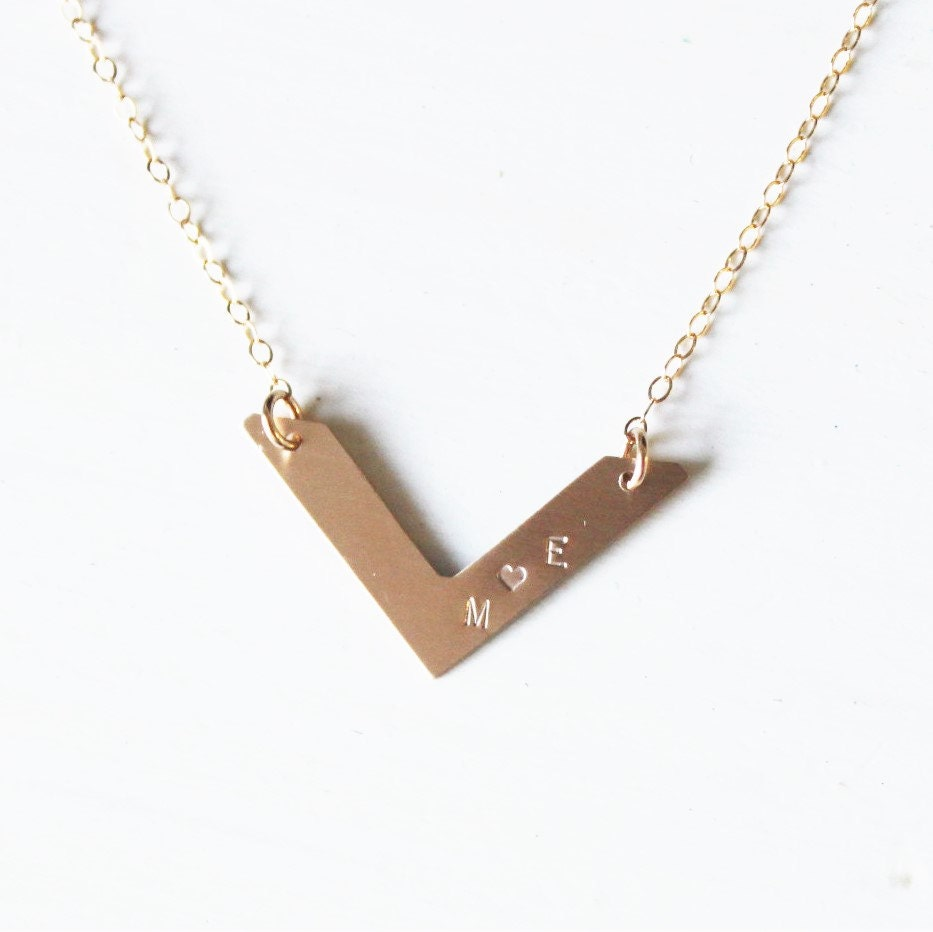 personalized gold necklace gold initial necklace simple gold