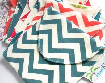 Back to School SALE 6 Reusable Eco Sandwich/Snack Bags - Completely Organic Cotton - Choose your colors and sizes - Back to School