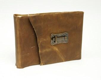 Stunning Rugged Leather Photo Album /Holds 30 Photos / 4 x 6 Photo Album / Includes Photo Corners