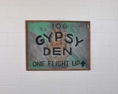 70s painting / Real Gypsy Den Vintage 1970s Fortune Teller Sign