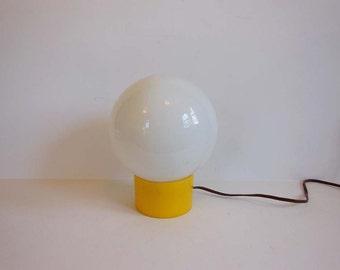 Globe Desk Lamp / Vintage 60's Mid Century Glass Ball Globe Pedestal Table Desk Lamp