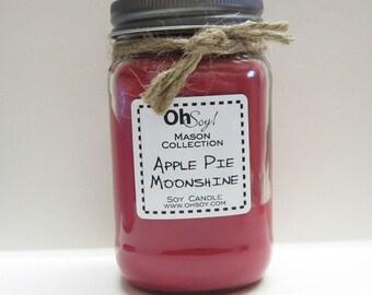 Soy Mason Jar Candle - Apple Pie Moonshine - 16oz OhSoy! Mason Cande